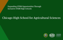 Chicago Agricultural Sciences High School Video